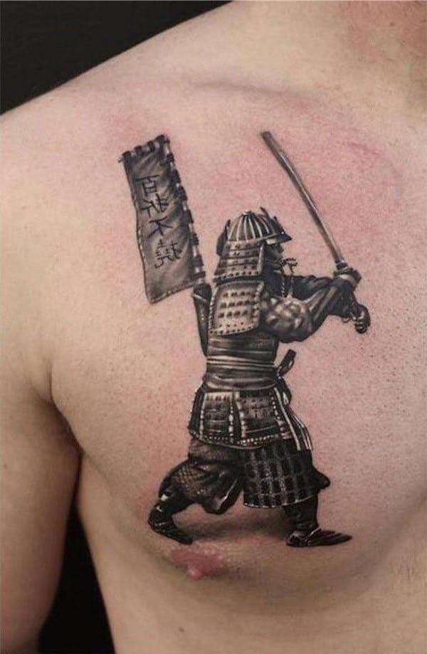 Tatuajes en el pecho para hombres 66