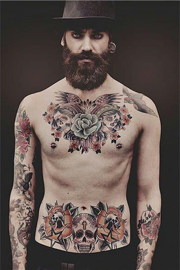 Tatuajes en el pecho para hombres 6