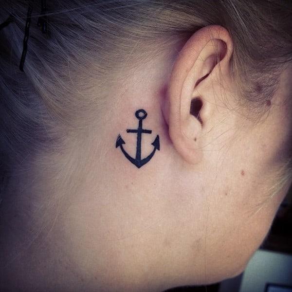 Ideas de tatuajes pequeños detrás de la oreja
